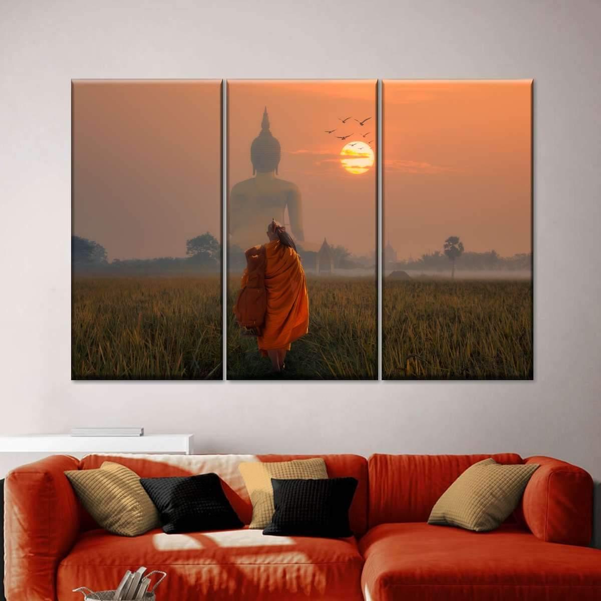 Journey To Buddha Multi Panel Canvas Wall Art