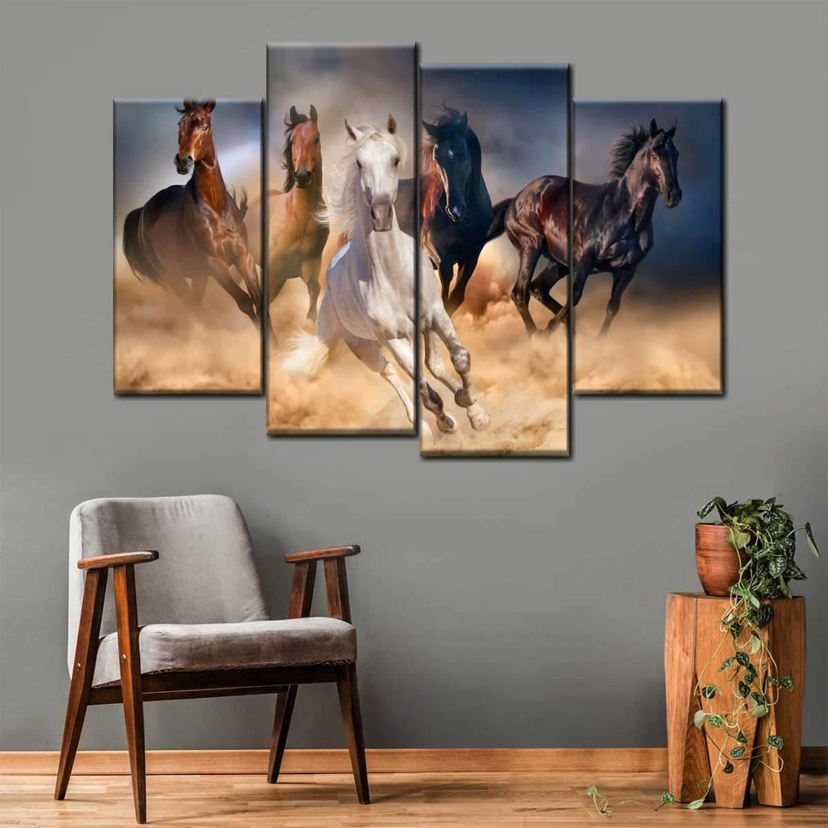 Running in the Wild Multi Panel Canvas Wall Art