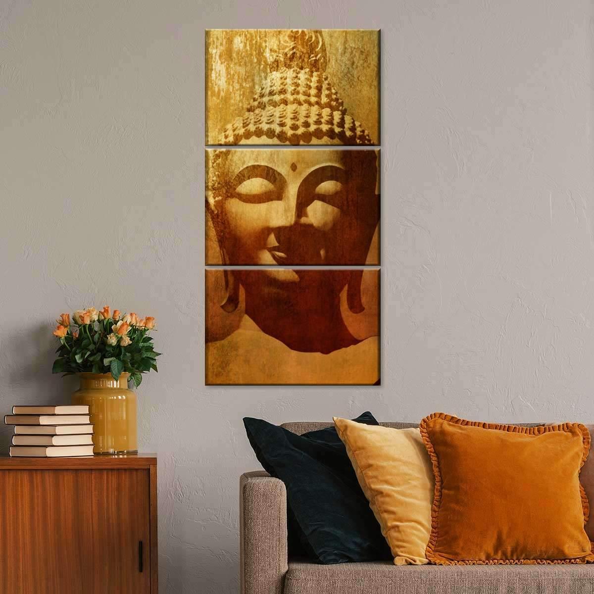 Patina Buddha Multi Panel Canvas Wall Art
