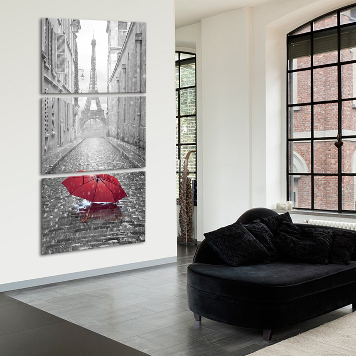 Red Umbrella Multi Panel Canvas Wall Art