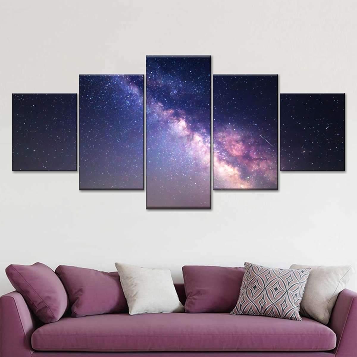 Starry Night Milky Way Multi Panel Canvas Wall Art