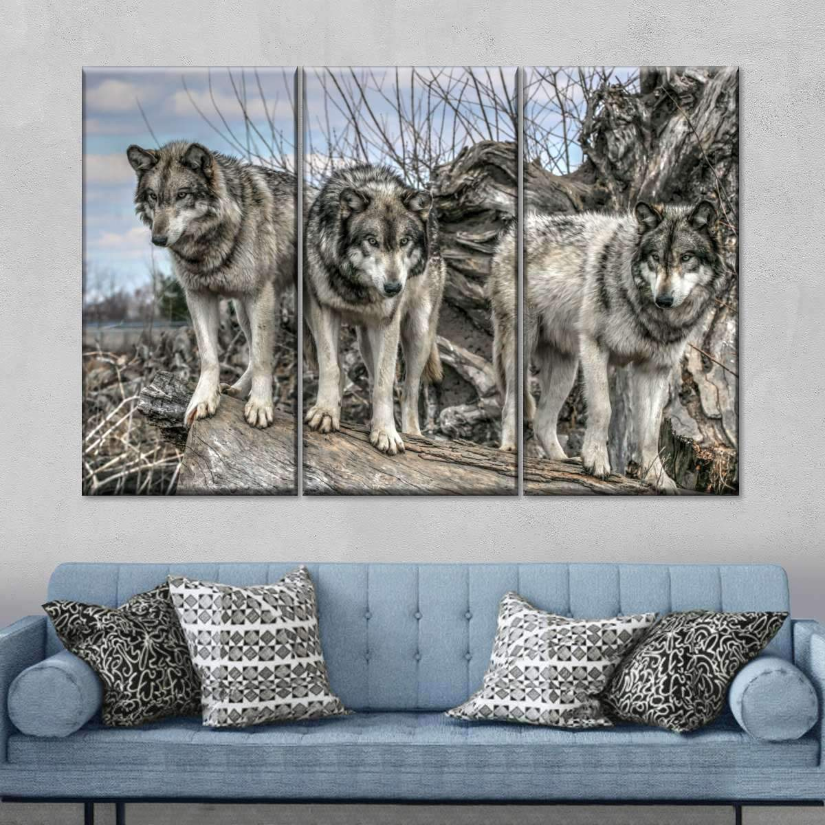 Dances With Wolves Multi Panel Canvas Wall Art