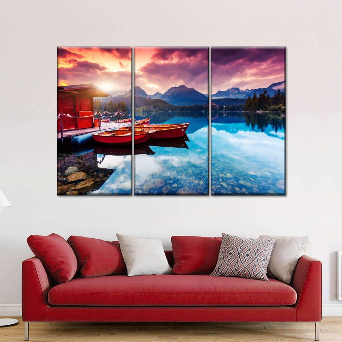 Lake Annecy Multi Panel Canvas Wall Art