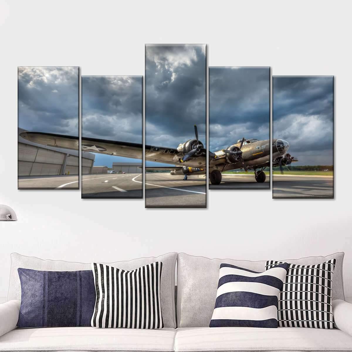 B17 Multi Panel Canvas Wall Art