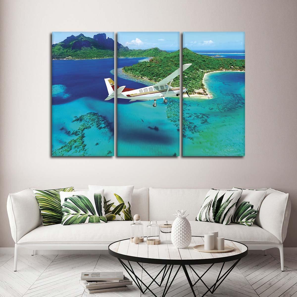 Vacation in Bora Bora Multi Panel Canvas Wall Art