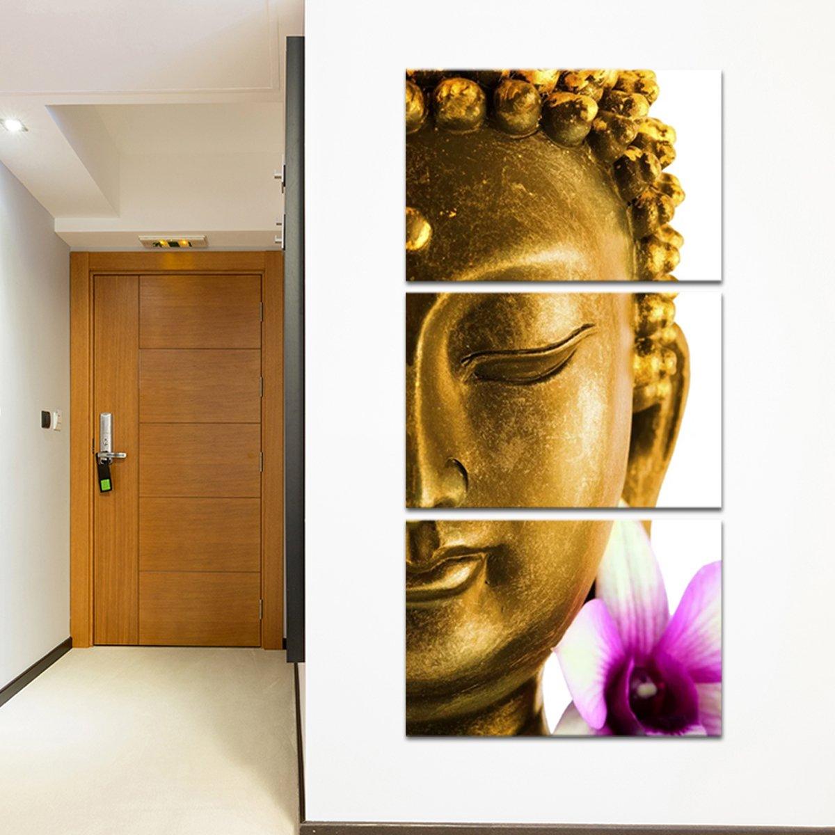 Golden Lotus Buddha Multi Panel Canvas Wall Art