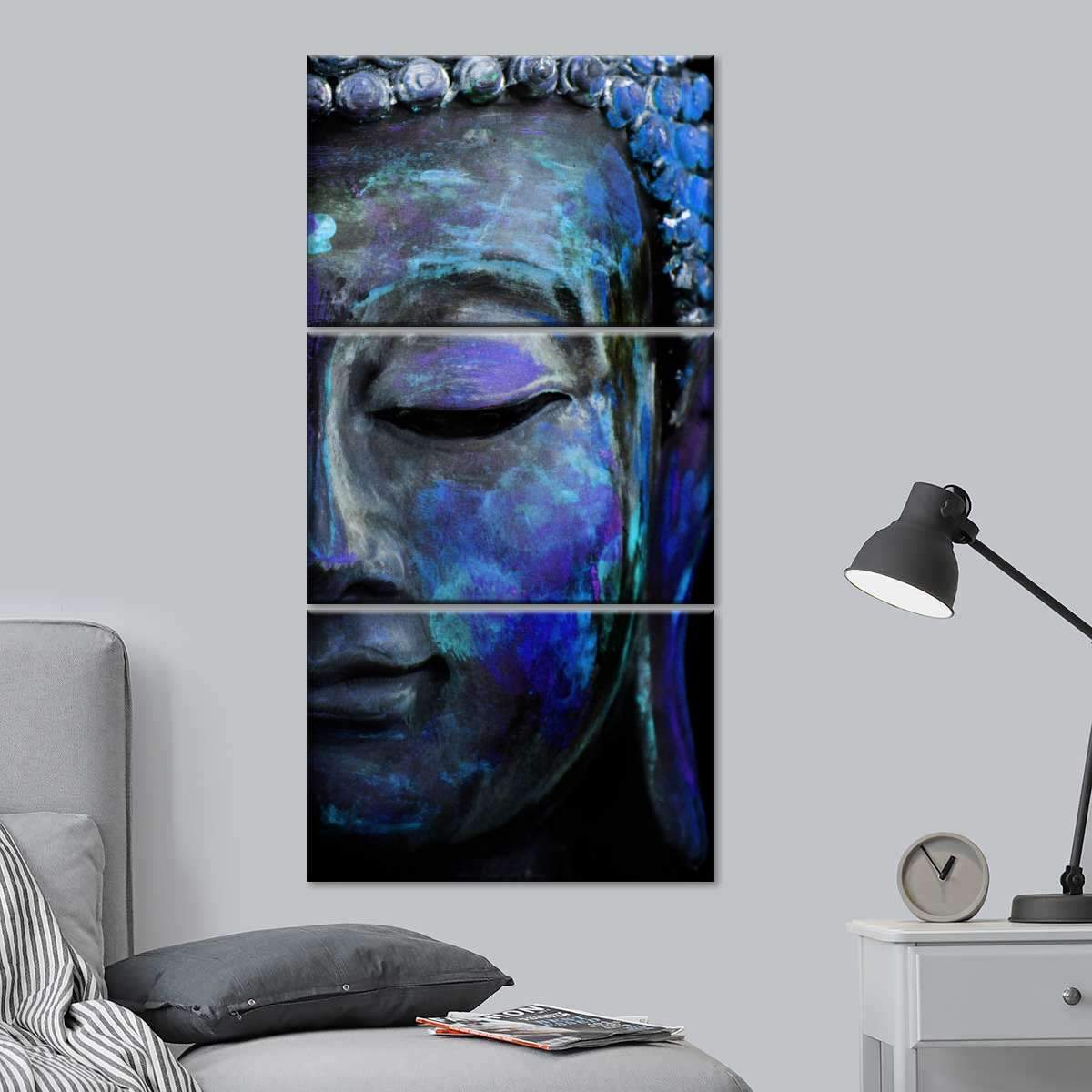 Indigo Tides Of Tranquility Multi Panel Canvas Wall Art