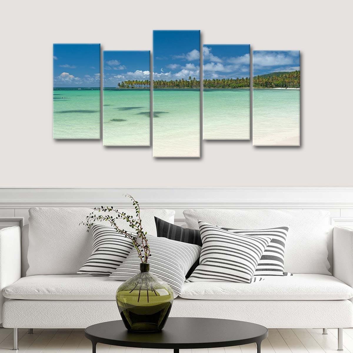 Samana Bay Multi Panel Canvas Wall Art