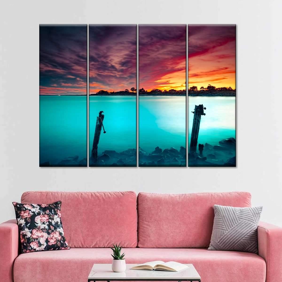 Magical Beach Multi Panel Canvas Wall Art
