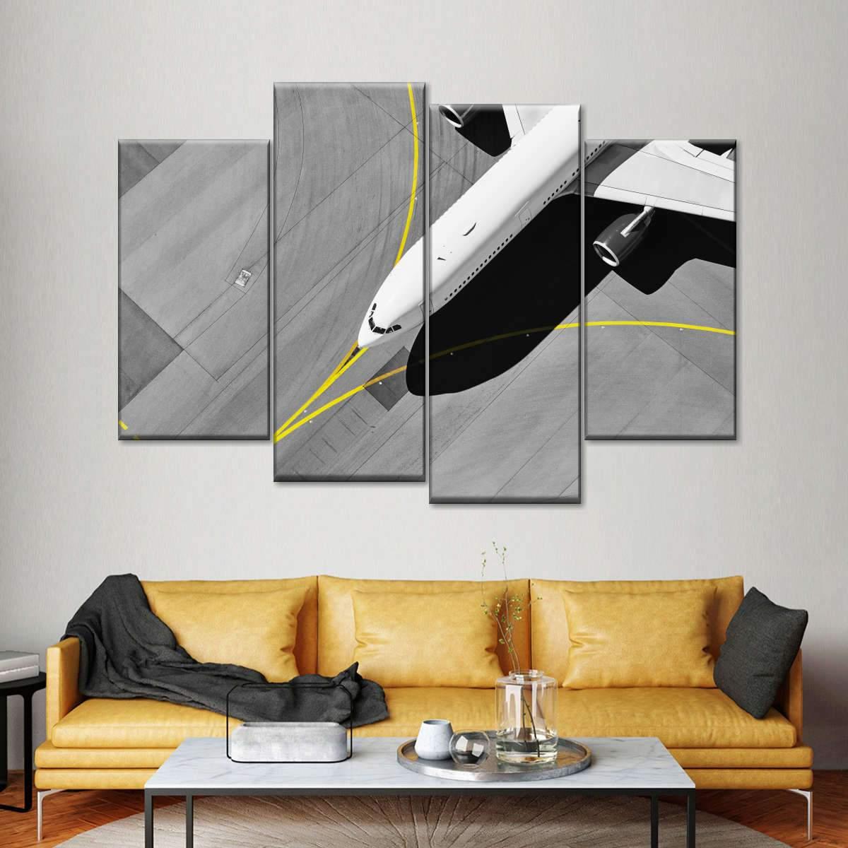 Airport Runaway Pop Multi Panel Canvas Wall Art