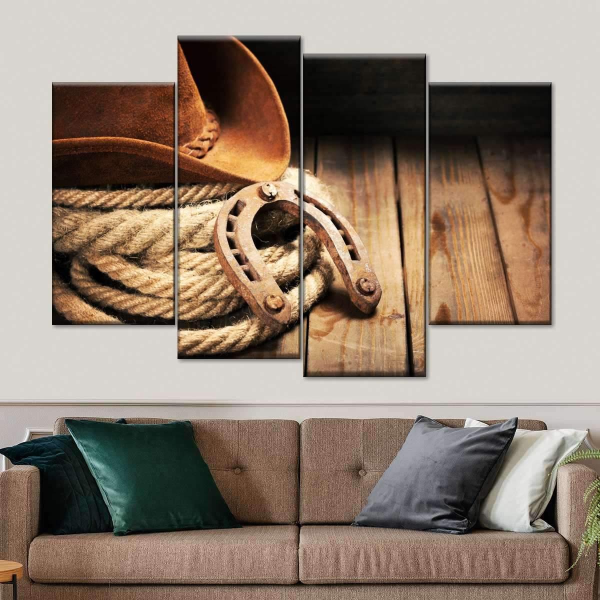 Cowboy's Gizmo Multi Panel Canvas Wall Art