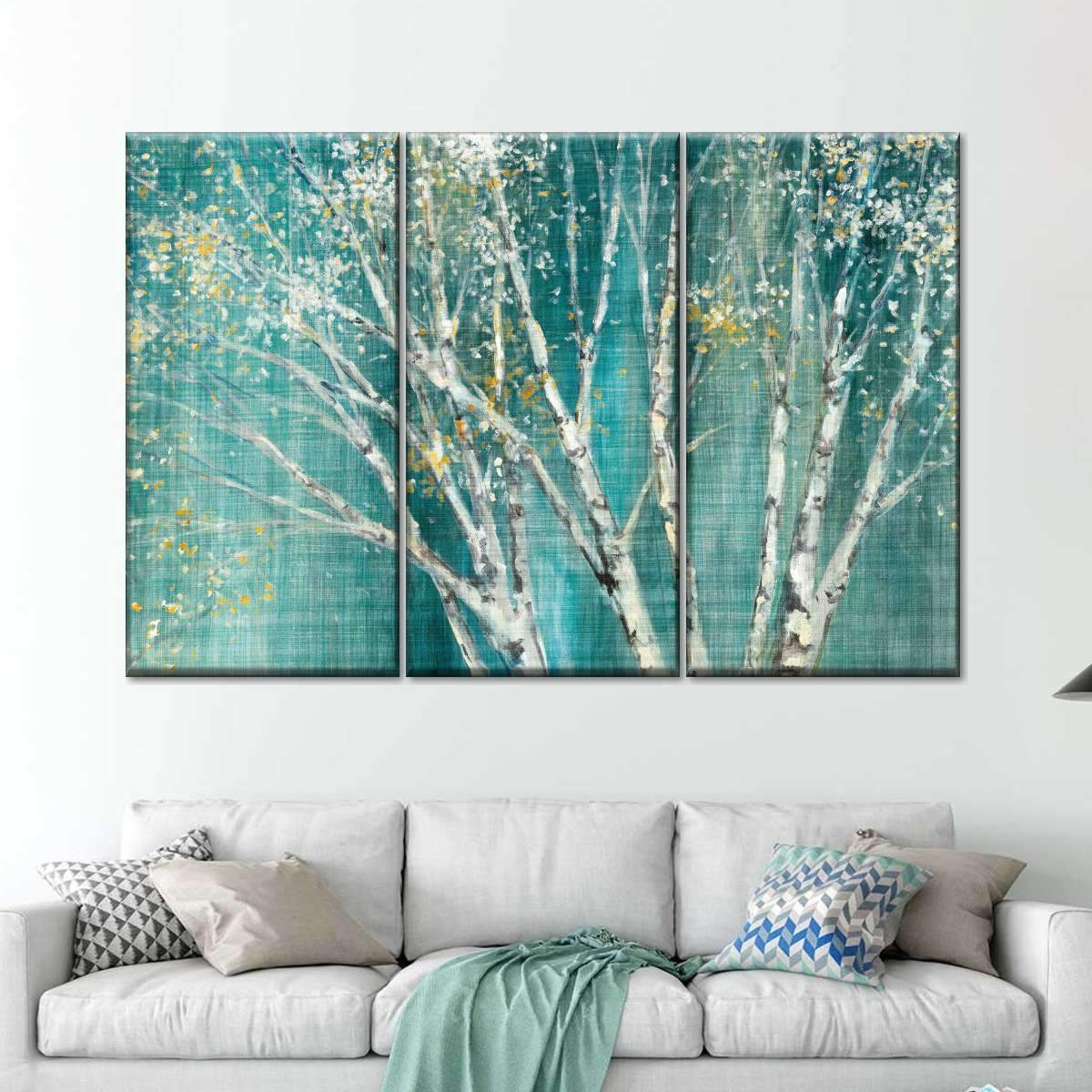 Blue Birch Multi Panel Canvas Wall Art