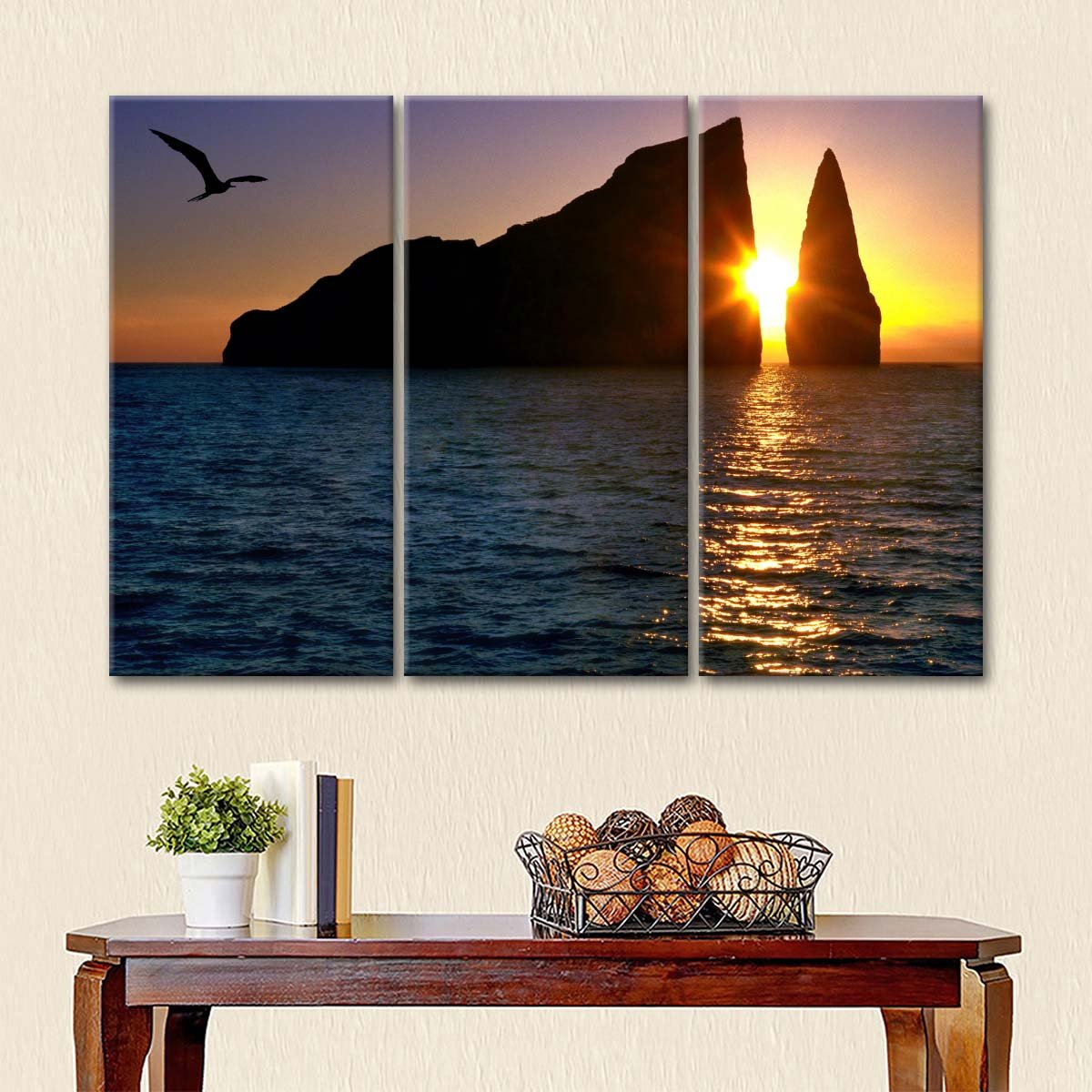 Galapagos Sunset Multi Panel Canvas Wall Art