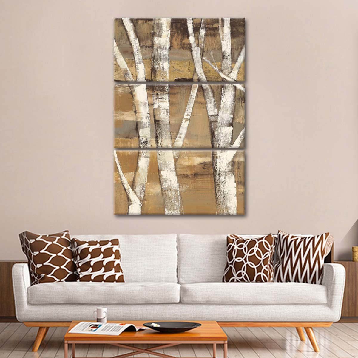 Wandering Through the Birches I Multi Panel Canvas Wall Art