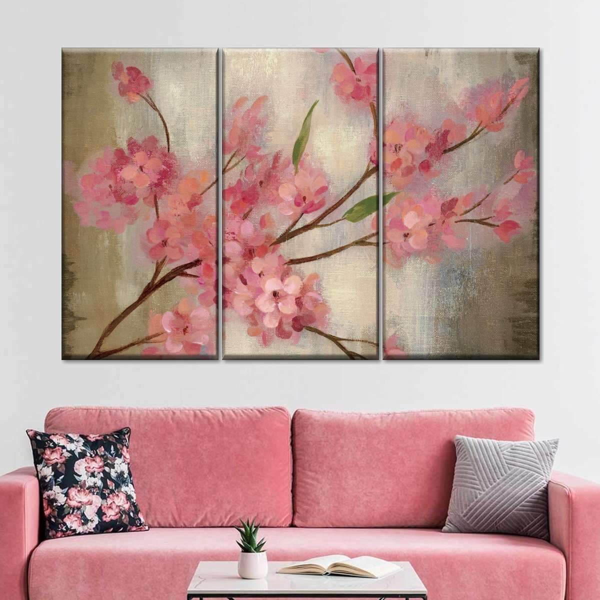 Cherry Blossom I Multi Panel Canvas Wall Art