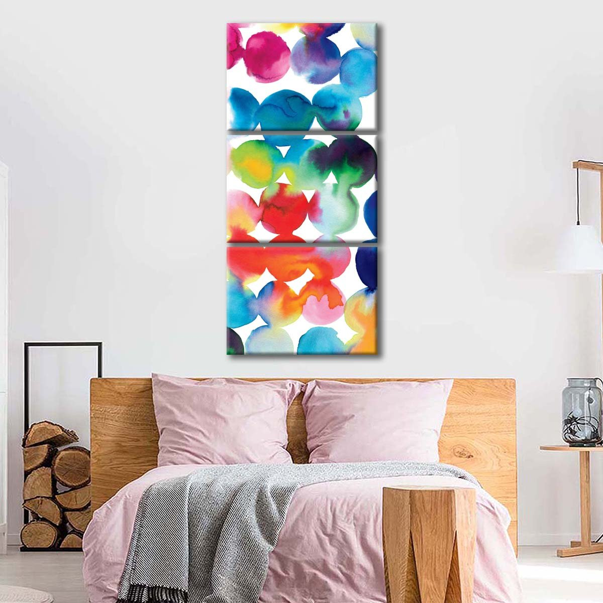Bright Circles III Multi Panel Canvas Wall Art