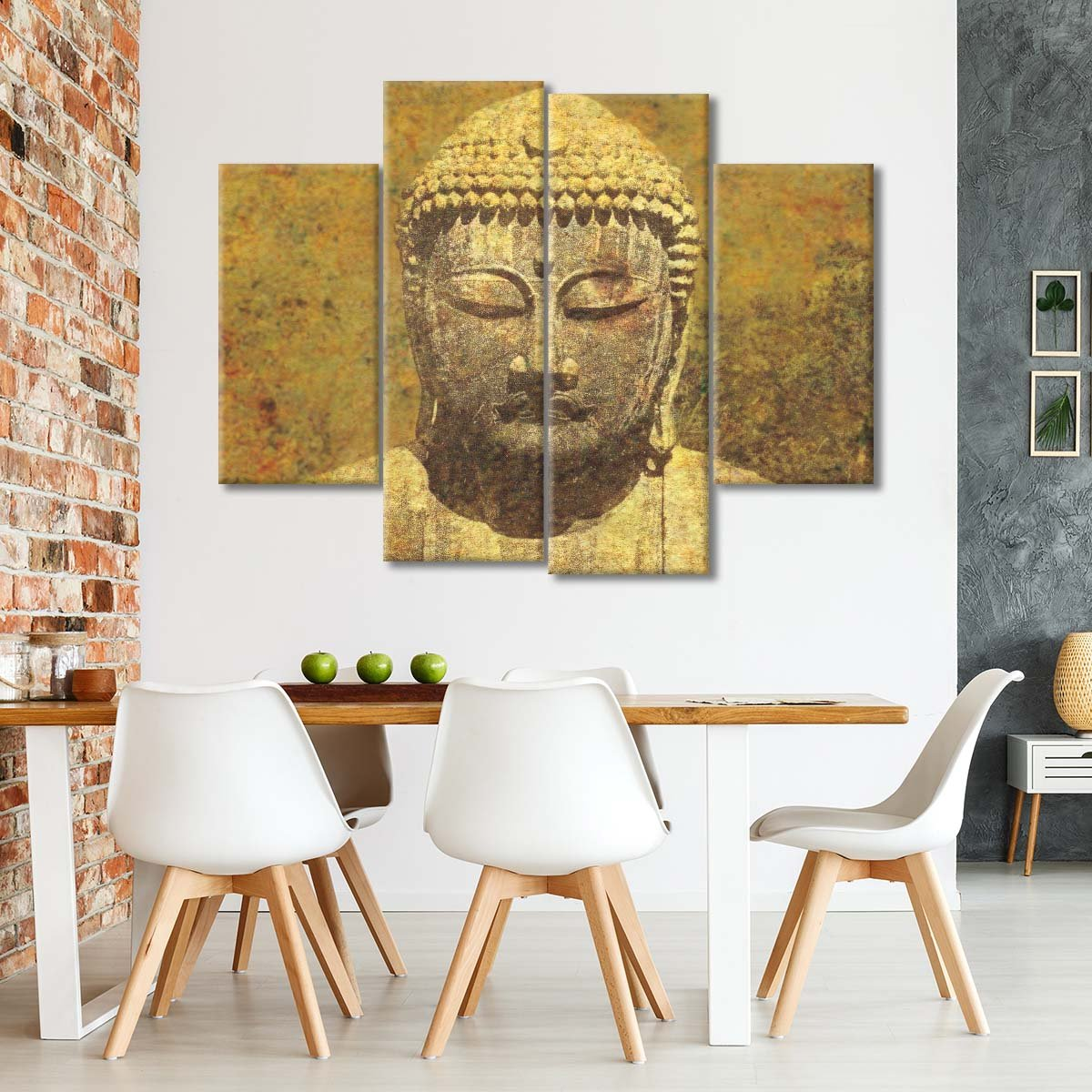 Asian Buddha Crop Multi Panel Canvas Wall Art