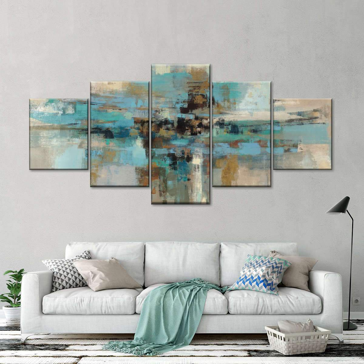 Morning Fjord Multi Panel Canvas Wall Art