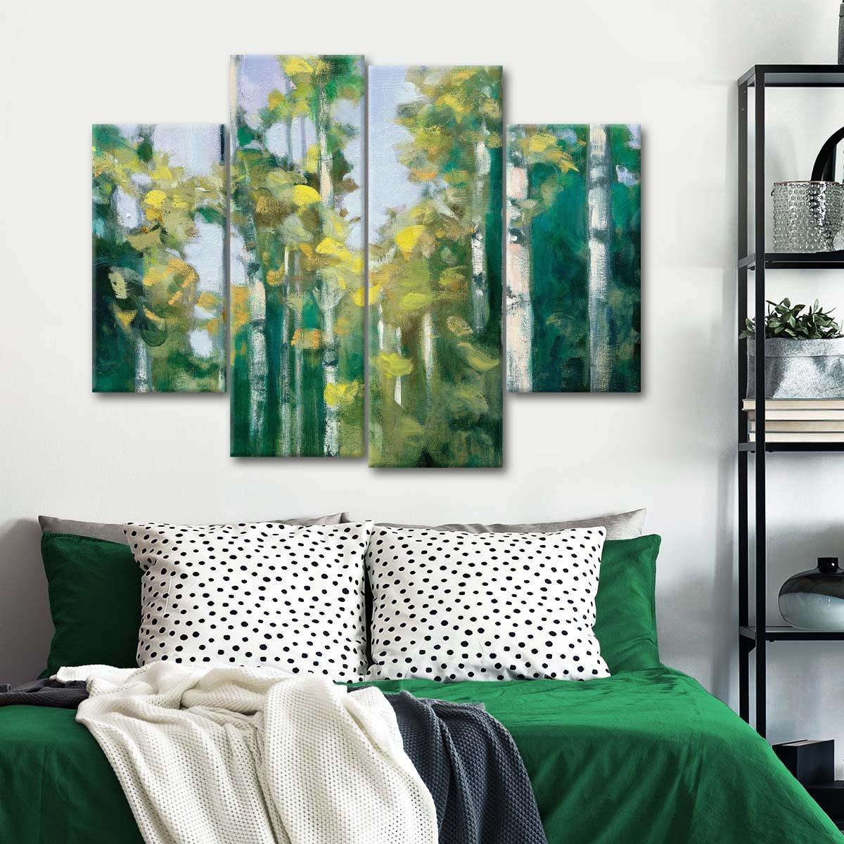 Birches Multi Panel Canvas Wall Art
