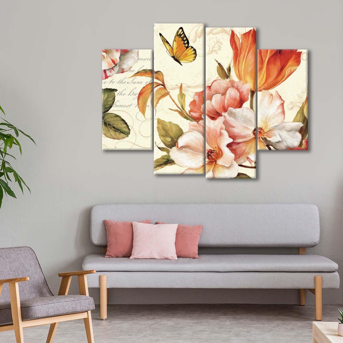 Poesie Florale III Multi Panel Canvas Wall Art