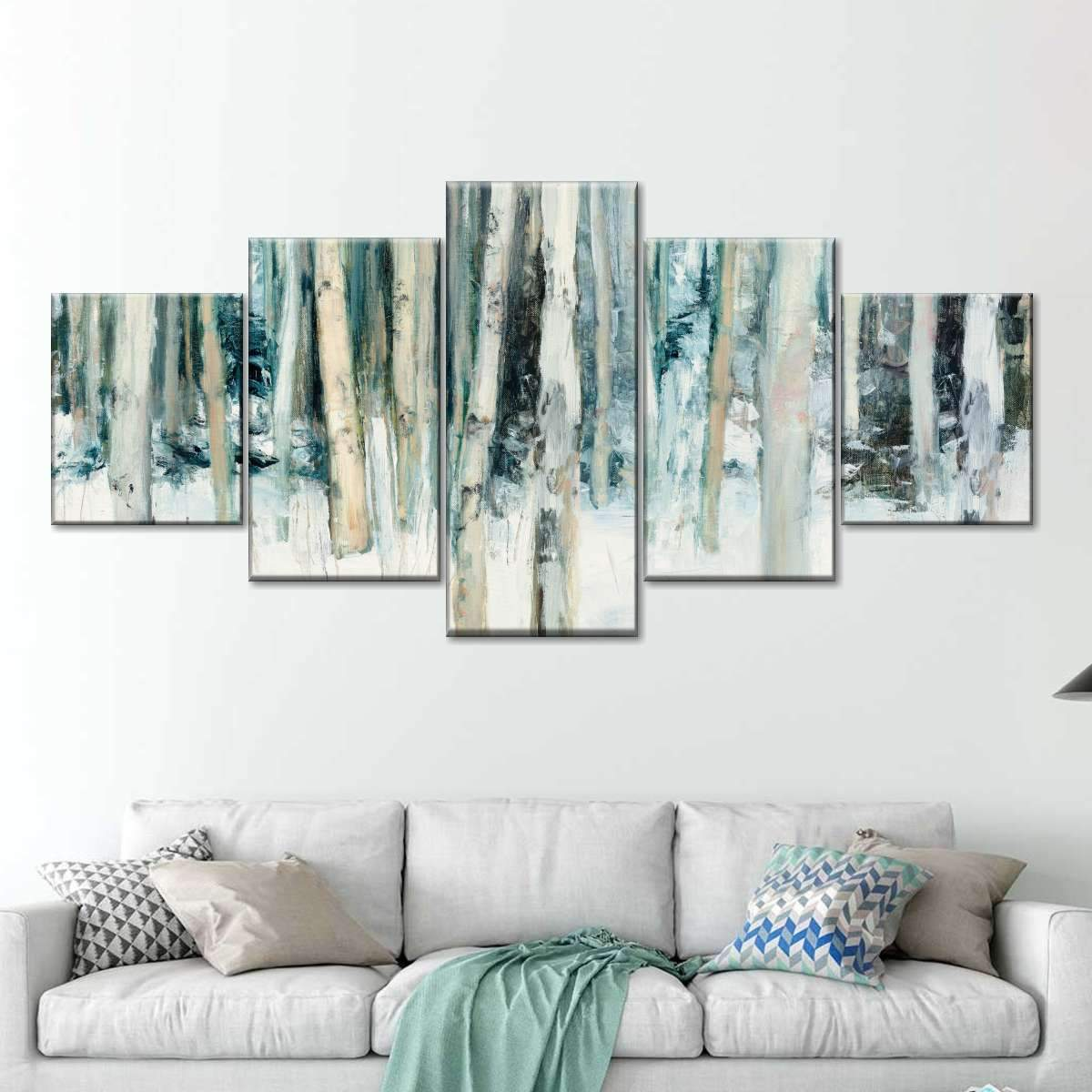 Winter Woods III Multi Panel Canvas Wall Art