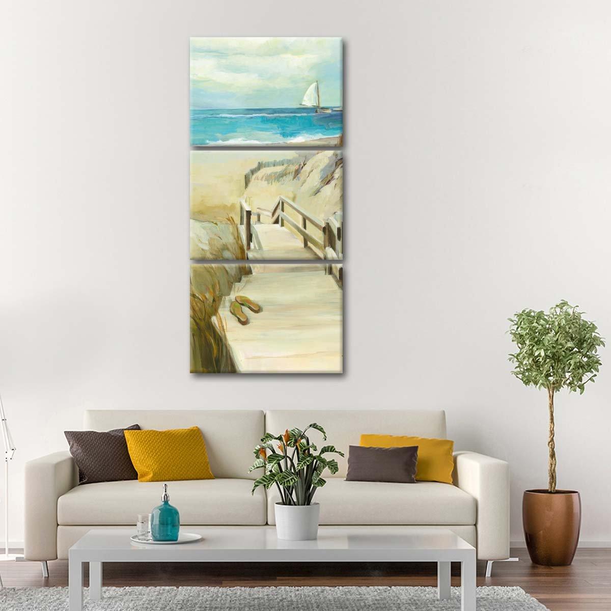 Coastal Escape Multi Panel Canvas Wall Art