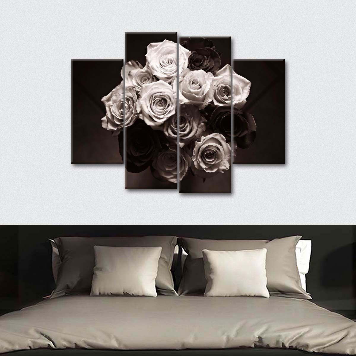 Flower Centerpiece Multi Panel Canvas Wall Art