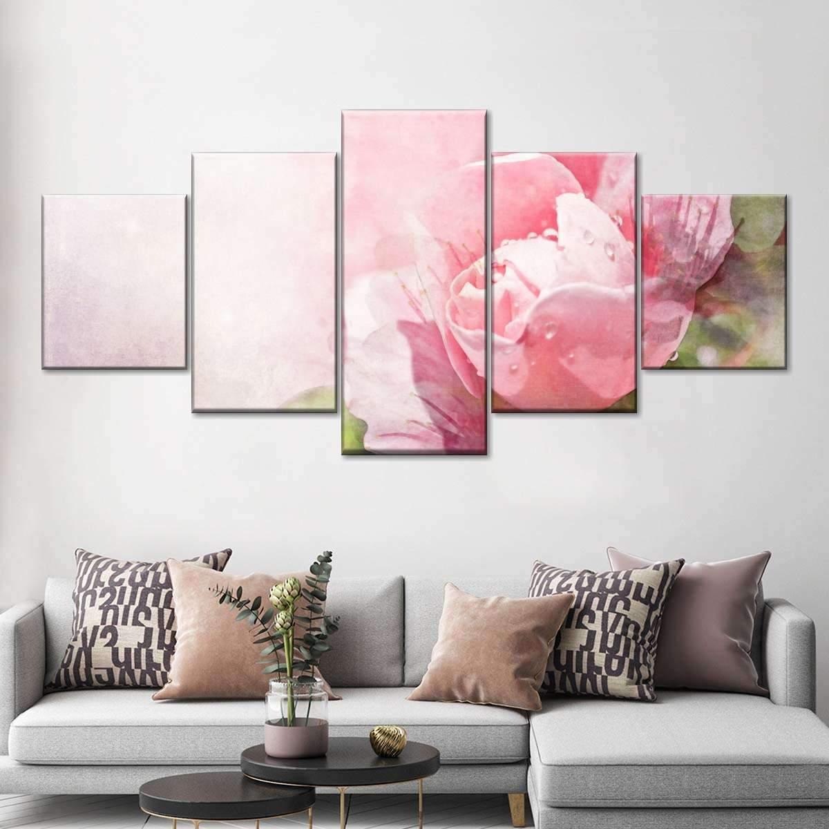 Dreamy Flower Blossom Multi Panel Canvas Wall Art