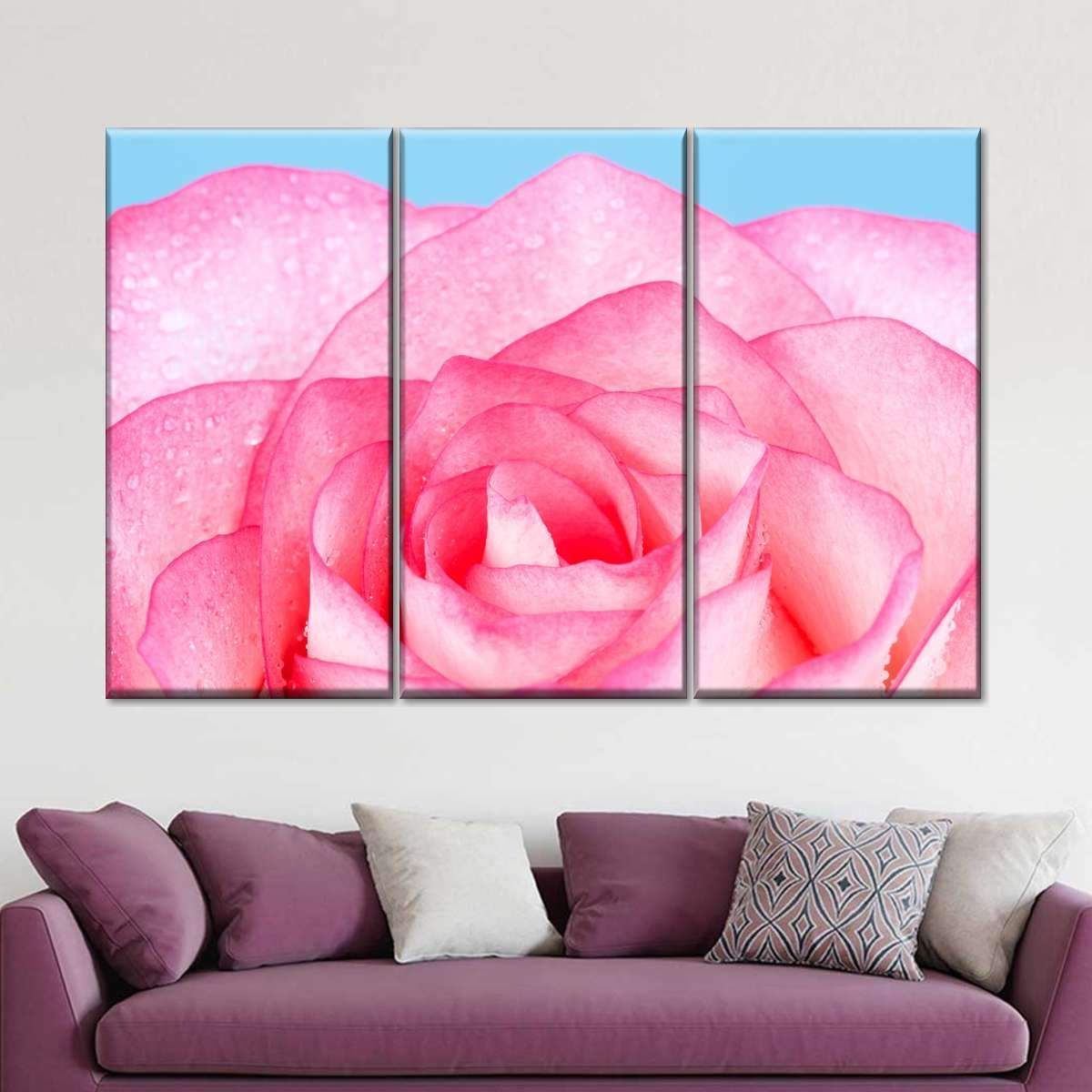 Rose Charm Multi Panel Canvas Wall Art