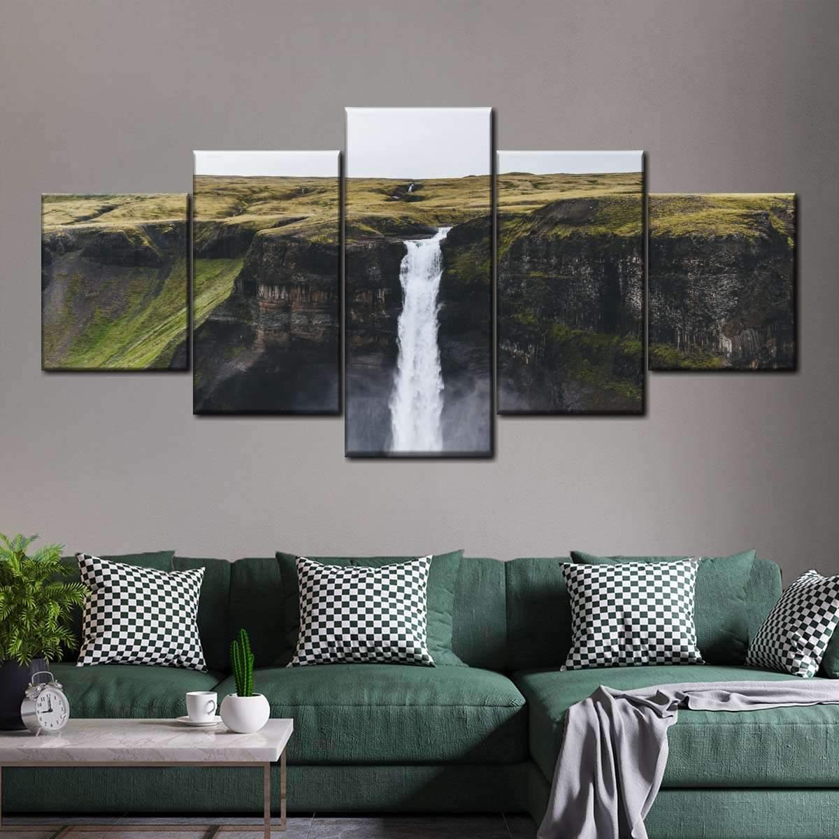 Rocky Mountain Waterfall Multi Panel Canvas Wall Art