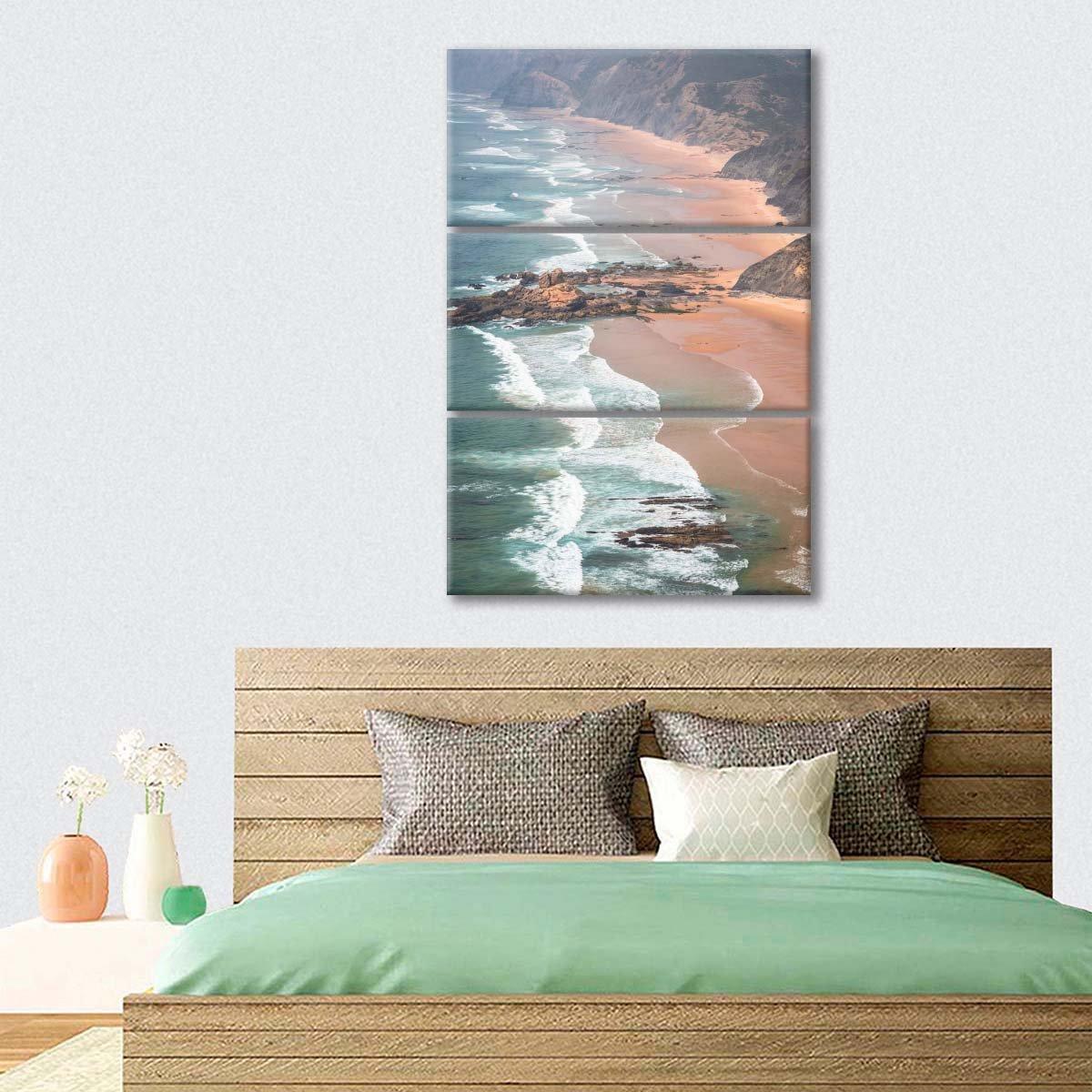 Sea Foam Multi Panel Canvas Wall Art