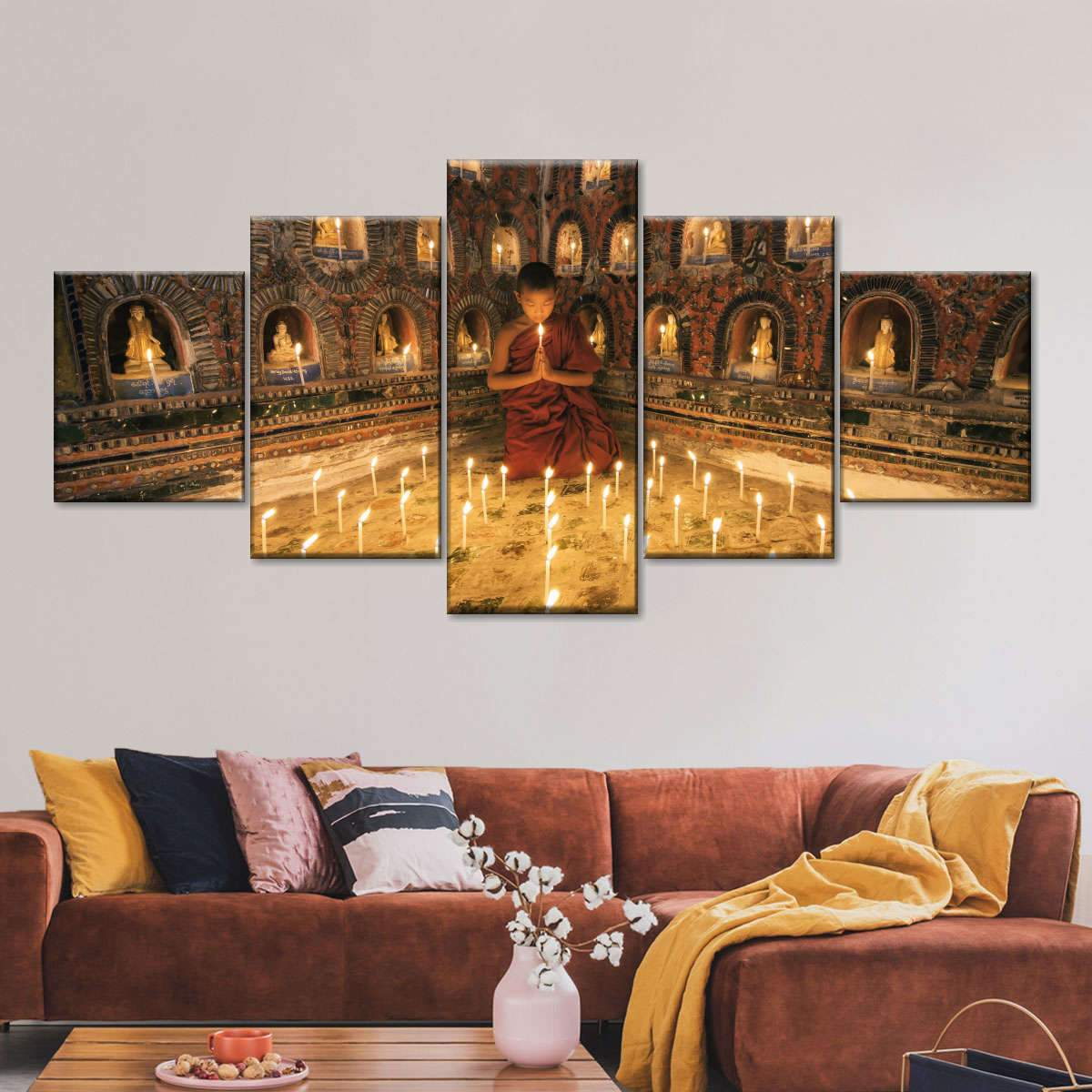 Blessed Young Monk Multi Panel Canvas Wall Art