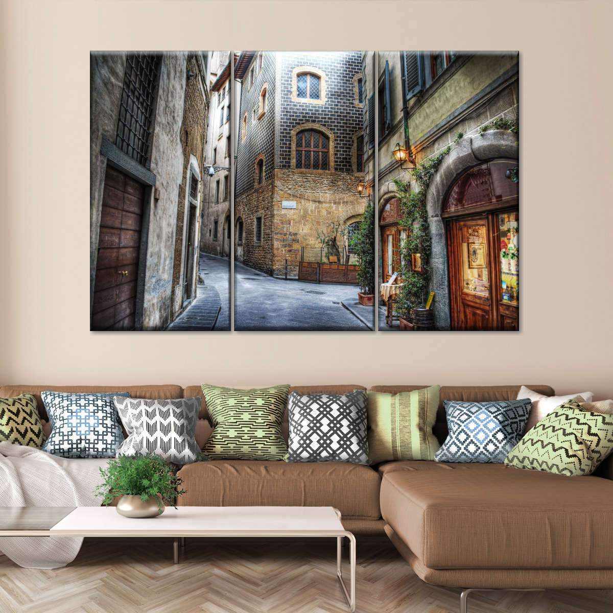 Florence Streets Multi Panel Canvas Wall Art