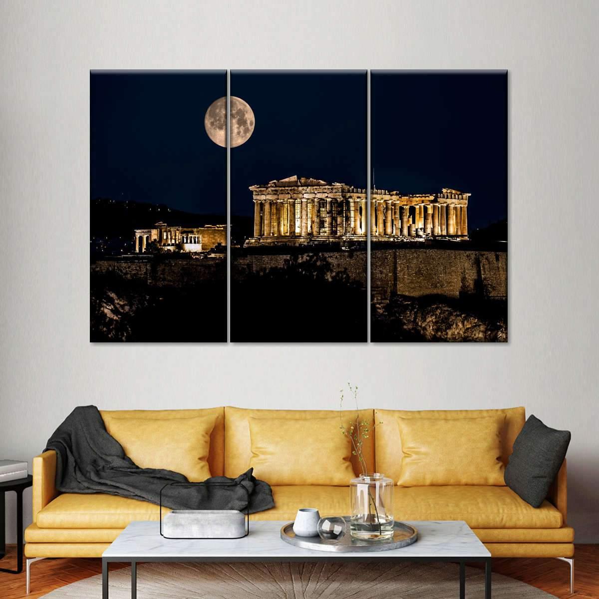 Parthenon of Athens Multi Panel Canvas Wall Art