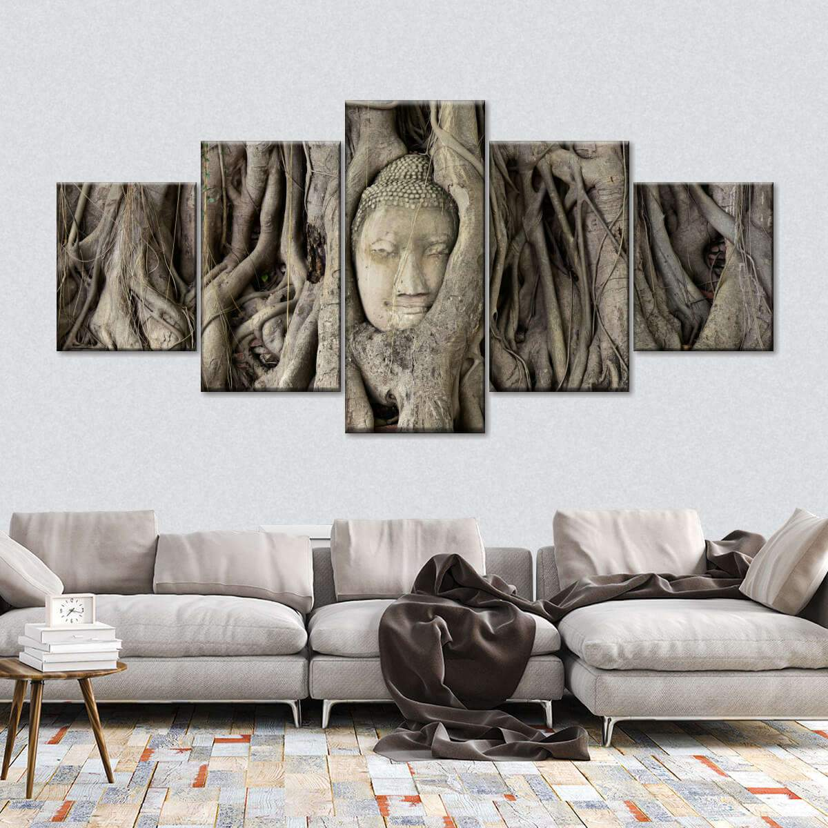 Buddha Tree Multi Panel Canvas Wall Art