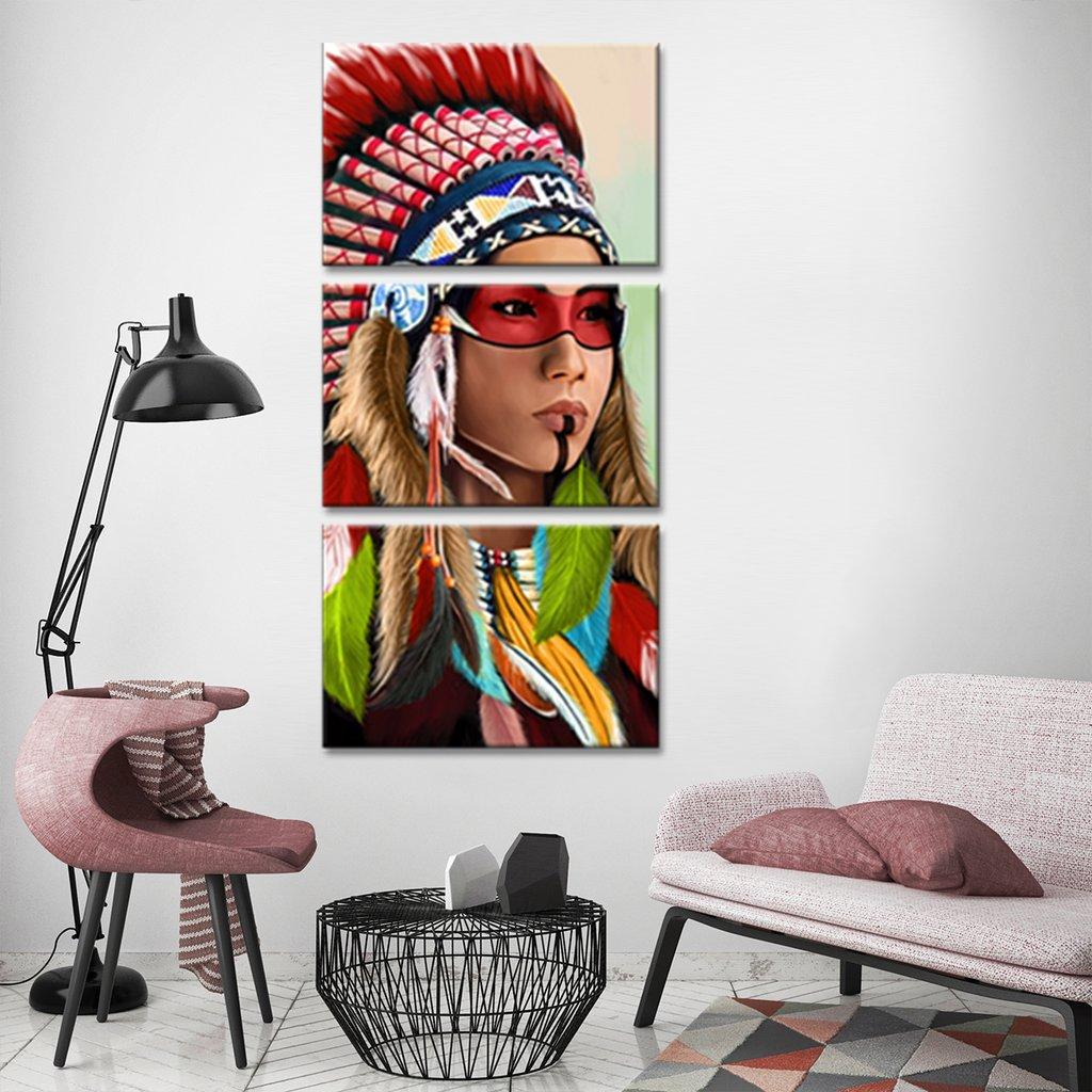 Indian Woman Multi Panel Canvas Wall Art