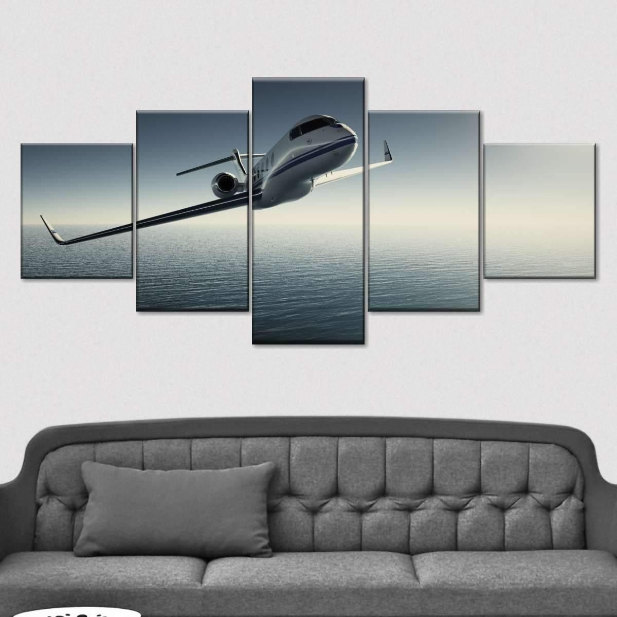 Private Jet Multi Panel Canvas Wall Art
