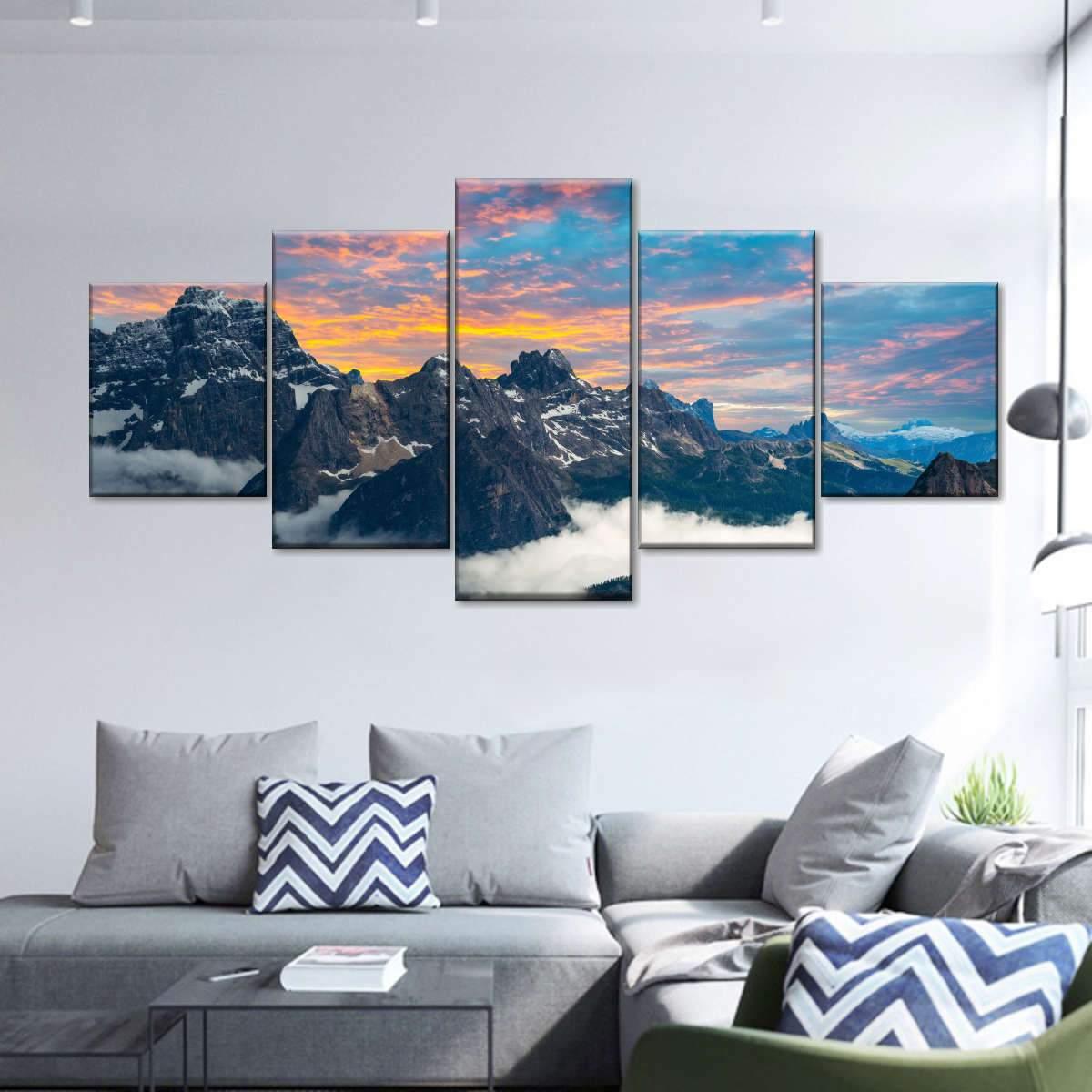 Tre Cime Di Lavaredo Multi Panel Canvas Wall Art