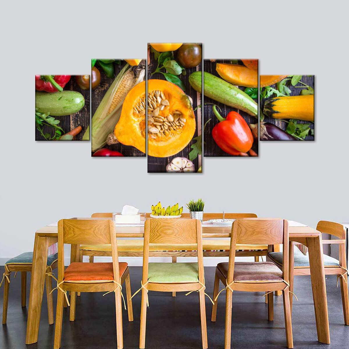 Garden Salad Multi Panel Canvas Wall Art