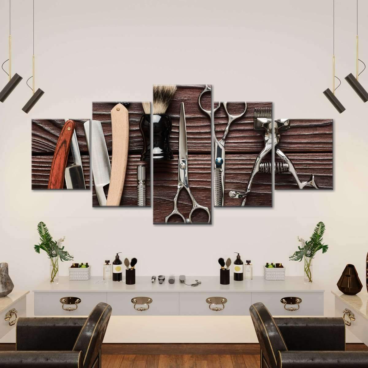 Lifestyle Barbershop Multi Panel Canvas Wall Art