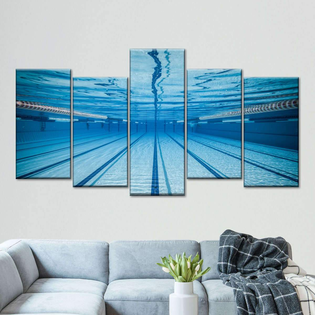 Olympic Pool Multi Panel Canvas Wall Art