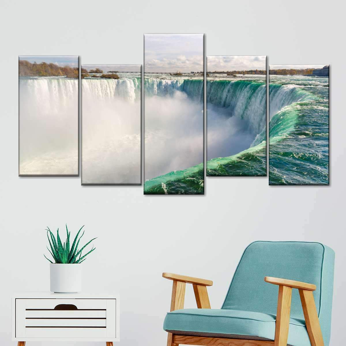 Horseshoe Falls Multi Panel Canvas Wall Art