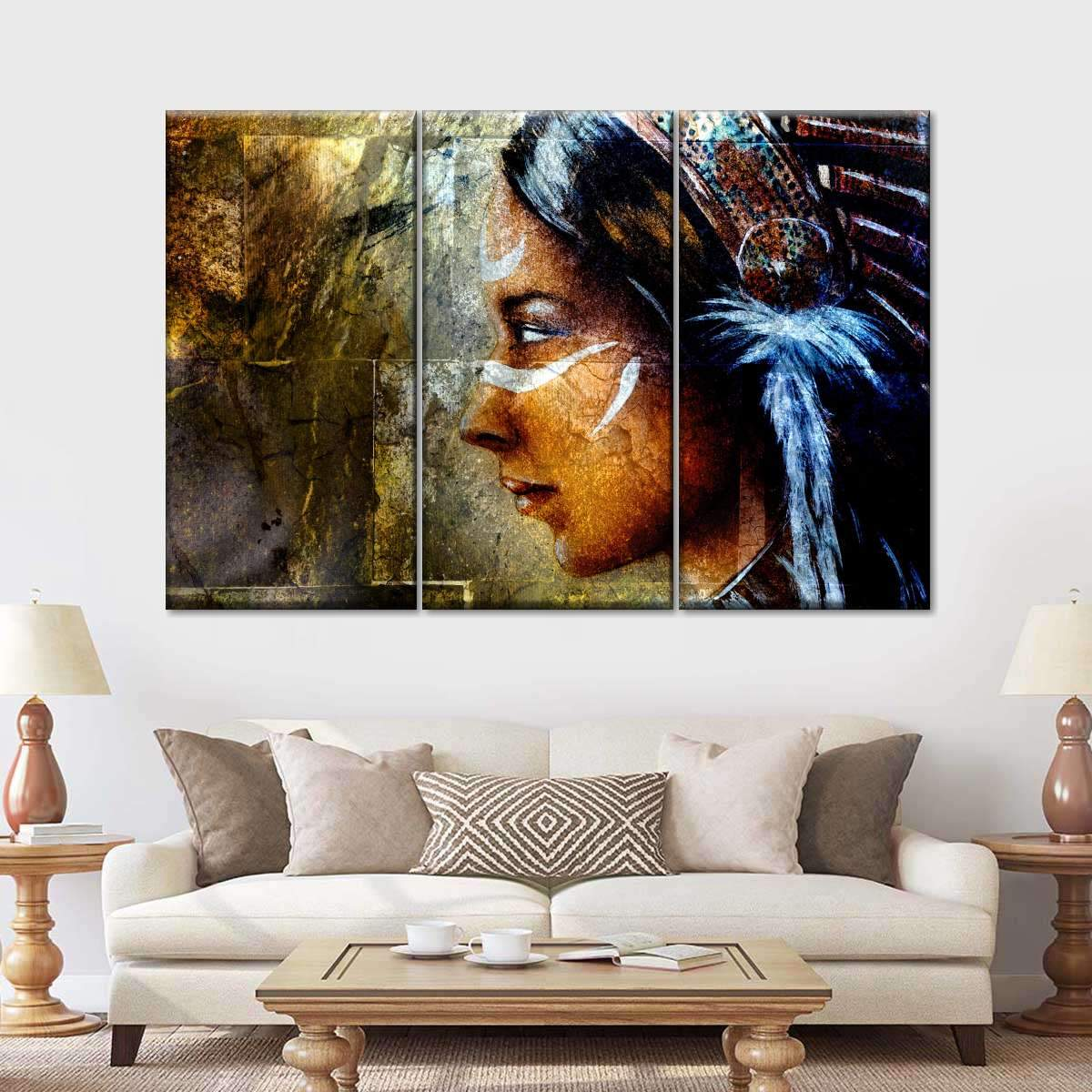 Indian Painting Multi Panel Canvas Wall Art
