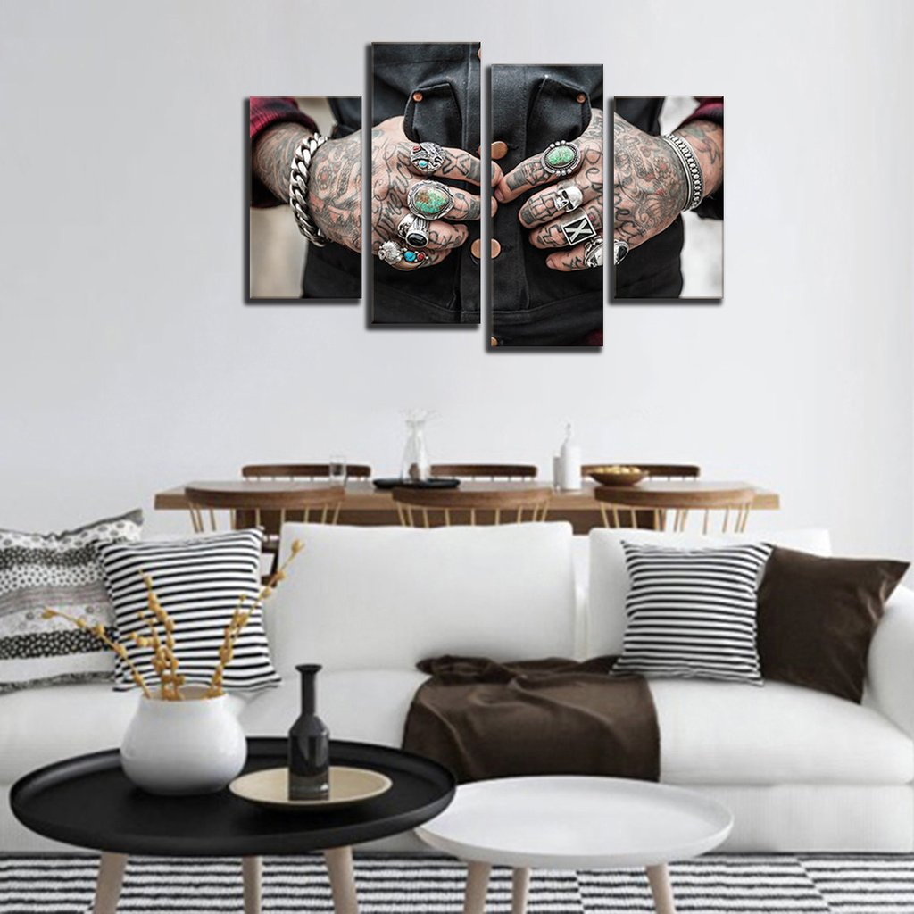 Tattoo Multi Panel Canvas Wall Art