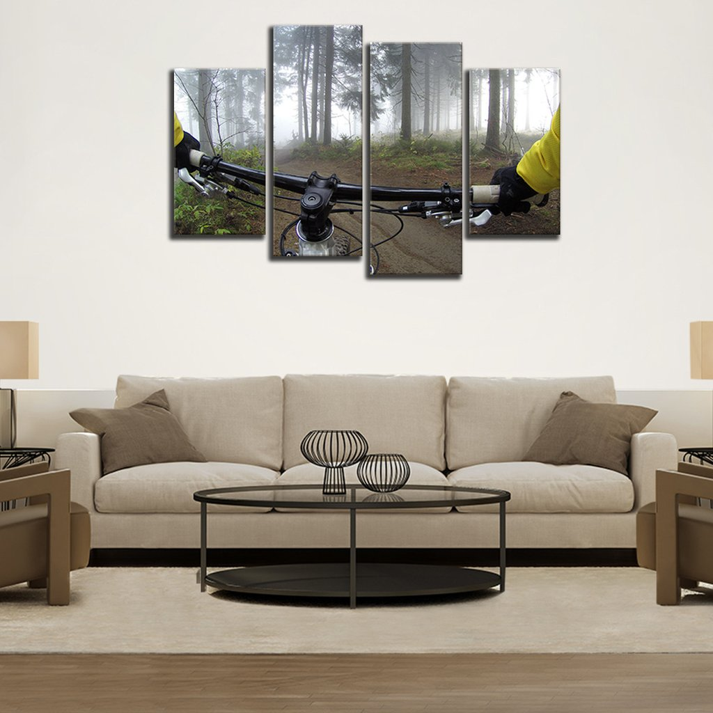 Weekend Cycling Multi Panel Canvas Wall Art