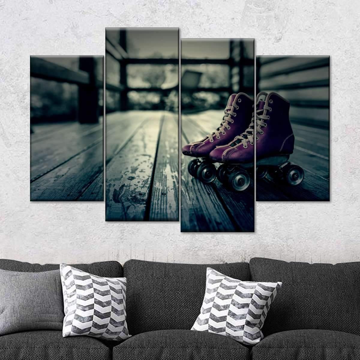 Skating Multi Panel Canvas Wall Art