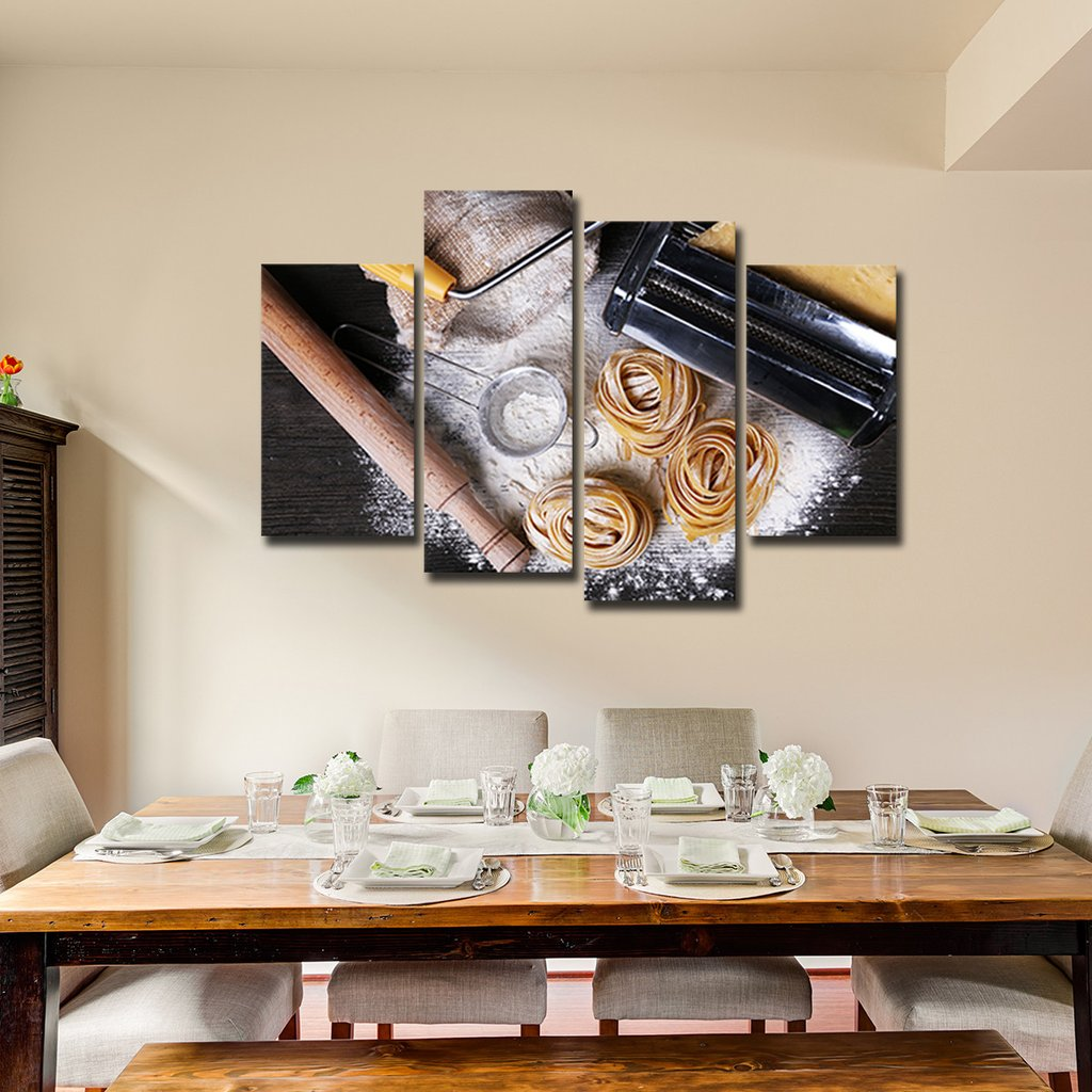 Pasta in Making Multi Panel Canvas Wall Art