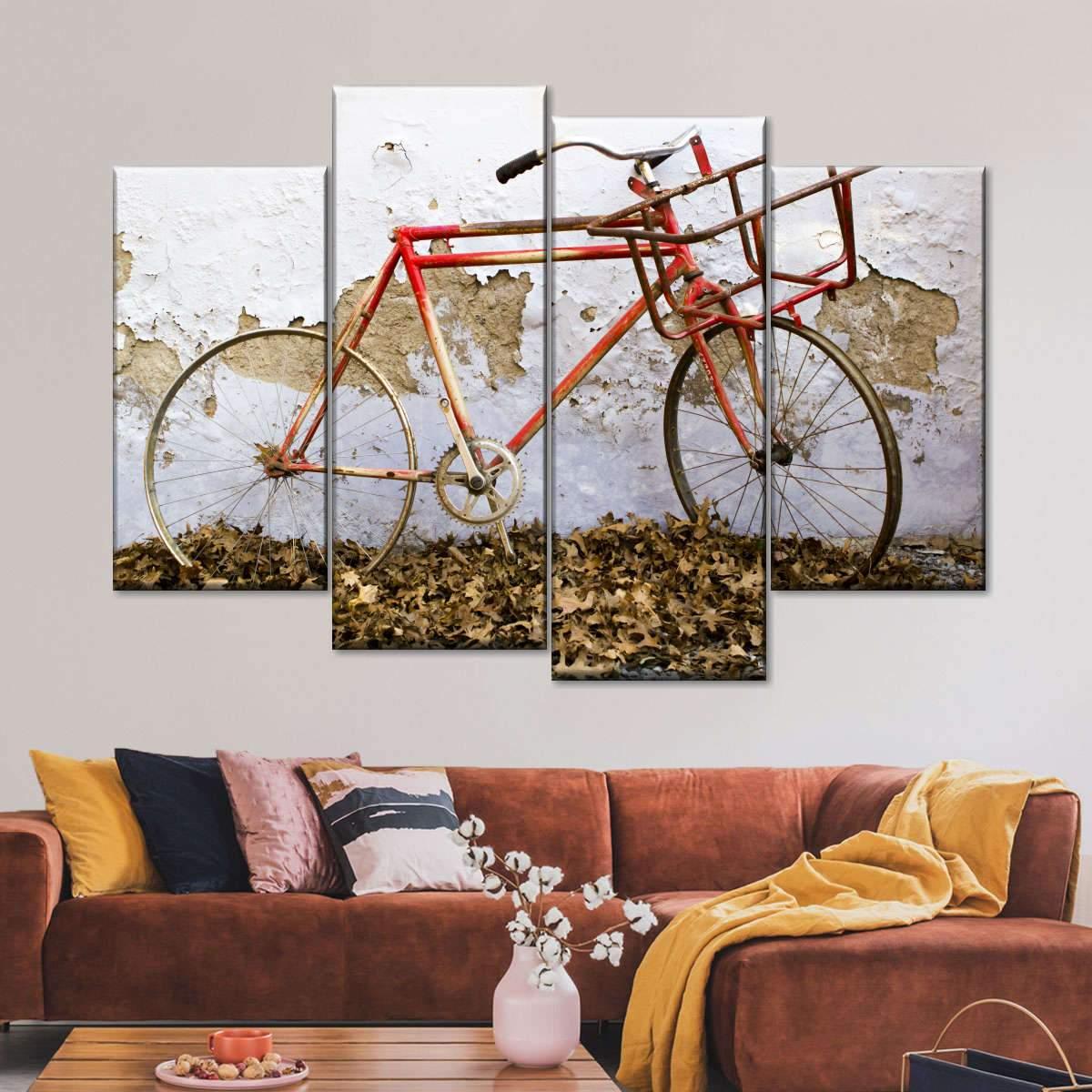 Rustic Bike Multi Panel Canvas Wall Art