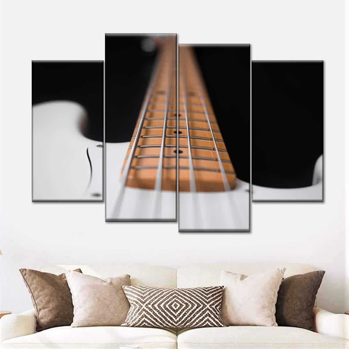 Electric Bass Guitar Multi Panel Canvas Wall Art