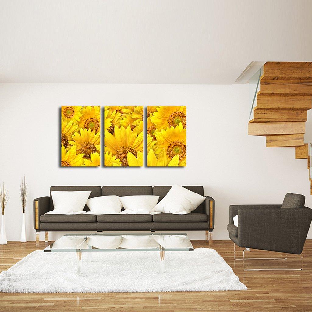 Sunflower Fusion Multi Panel Canvas Wall Art